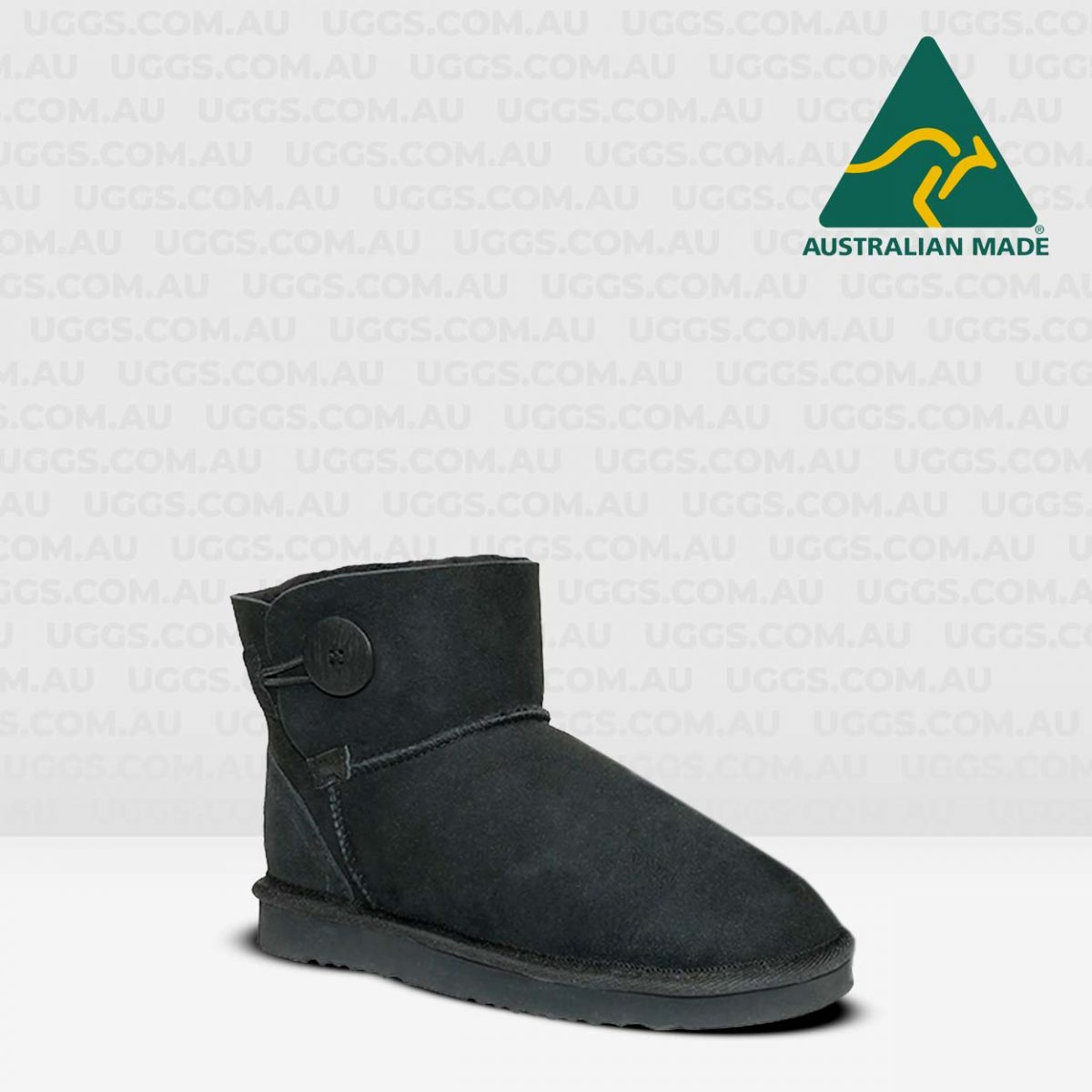 button ugg boots black