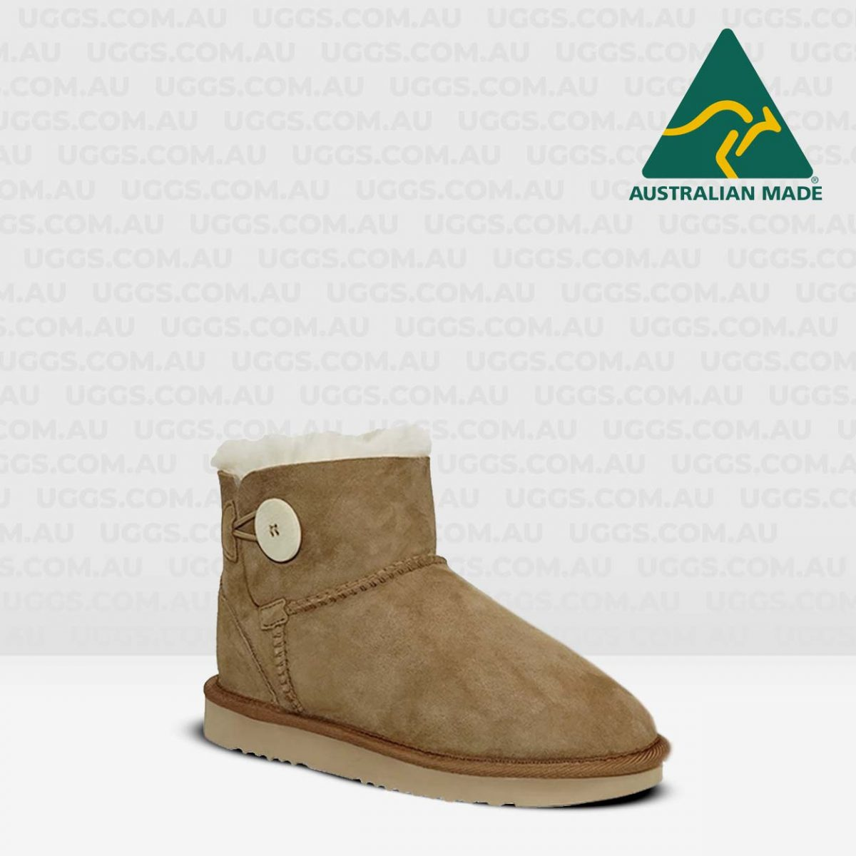 button ugg boots chestnut