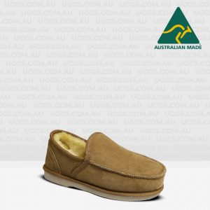 sheepskin loafers chestnut