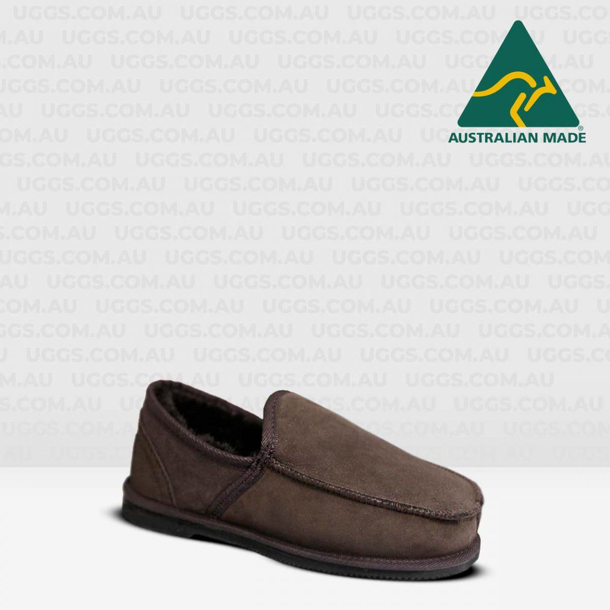 sheepskin loafers chocolate
