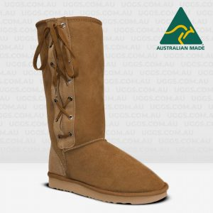 tall laceup ugg boots chestnut