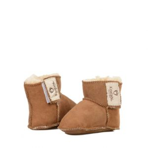 Baby Booties - Chestnut