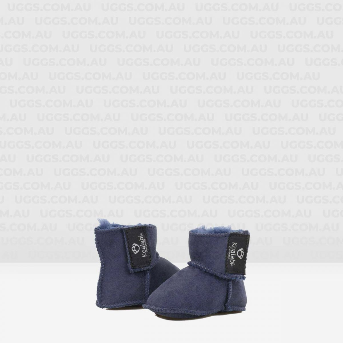 sheepskin baby booties navy