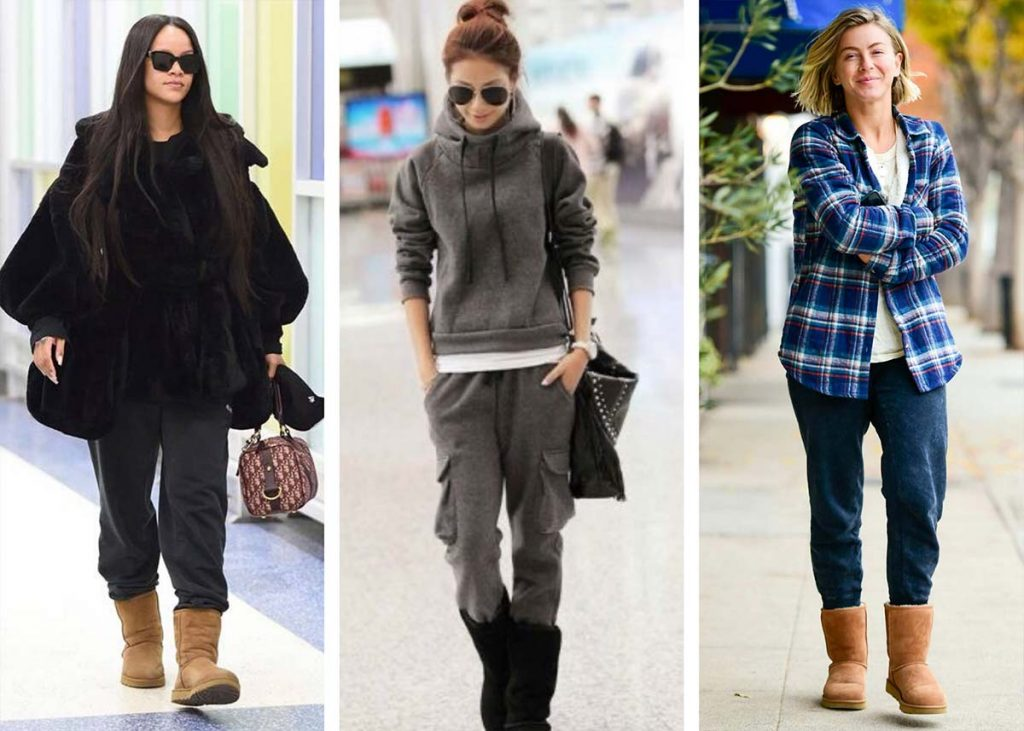 classic ugg boots with matching tracksuit