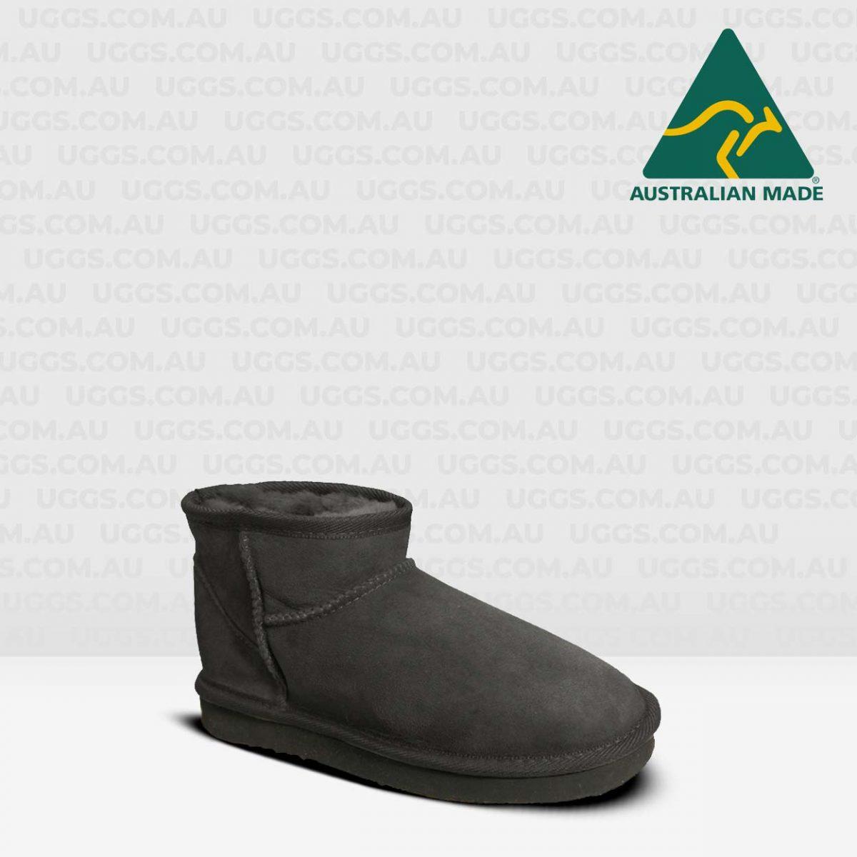 classic mini ugg boots black