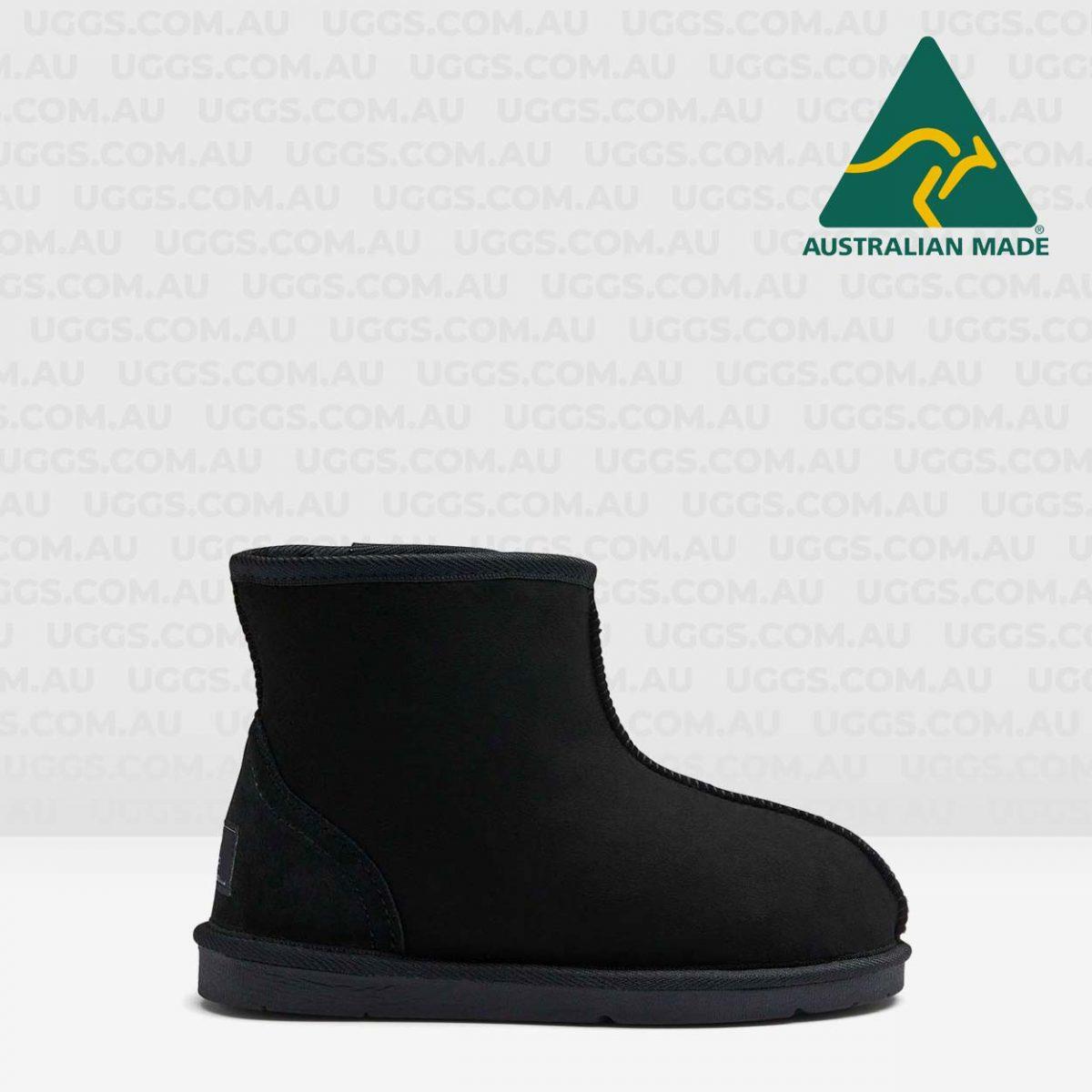 ankle ugg boots black